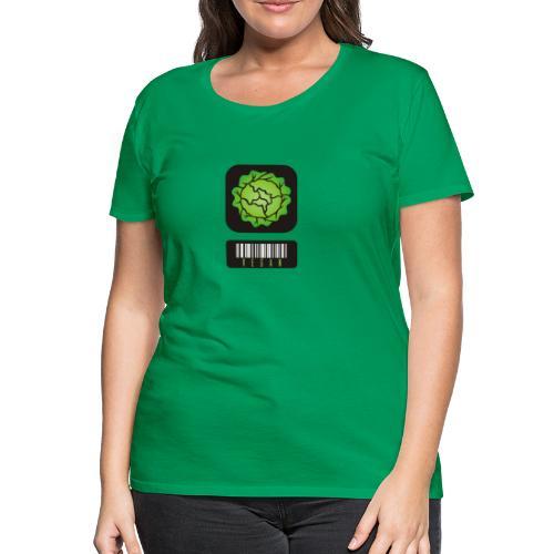 Vegan Barcode - Vrouwen Premium T-shirt