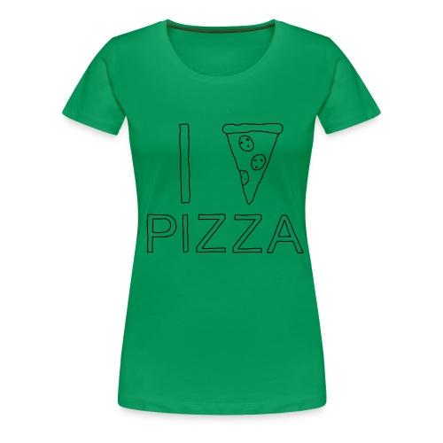 I Love PIZZA - Frauen Premium T-Shirt