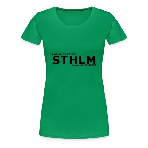 STHLM - Premium-T-shirt dam
