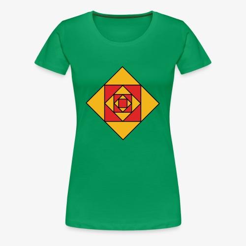 Prismes carrés - T-shirt Premium Femme