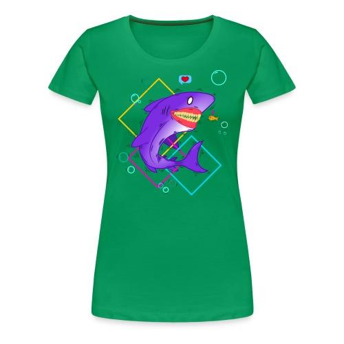 shark and fish - Camiseta premium mujer