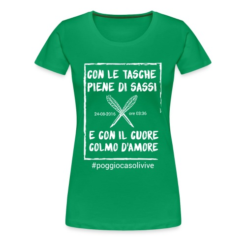 patch cuoresassi - Maglietta Premium da donna