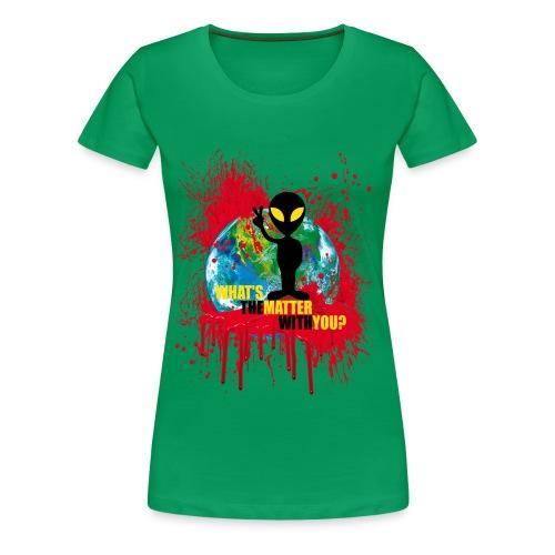 Wondering alien - Women's Premium T-Shirt
