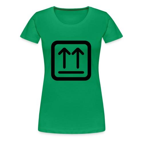 Hier ist oben - Frauen Premium T-Shirt