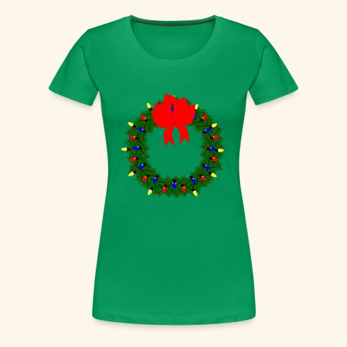 The christmas wreath - Women's Premium T-Shirt
