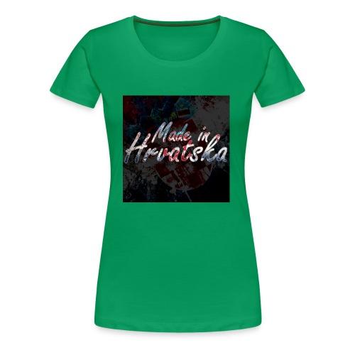 MadeInHrvatska - Frauen Premium T-Shirt