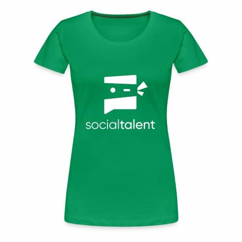 white social talent logo centre - Women's Premium T-Shirt