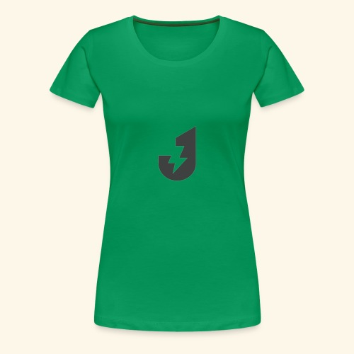 Large J Logo Print - Women's Premium T-Shirt