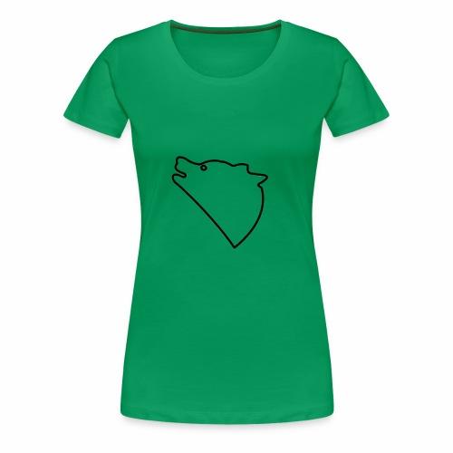 Wolf baul logo - Vrouwen Premium T-shirt