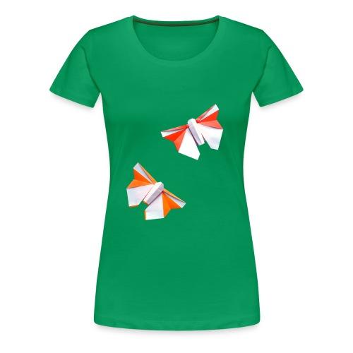 Butterflies Origami - Butterflies - Mariposas - Women's Premium T-Shirt