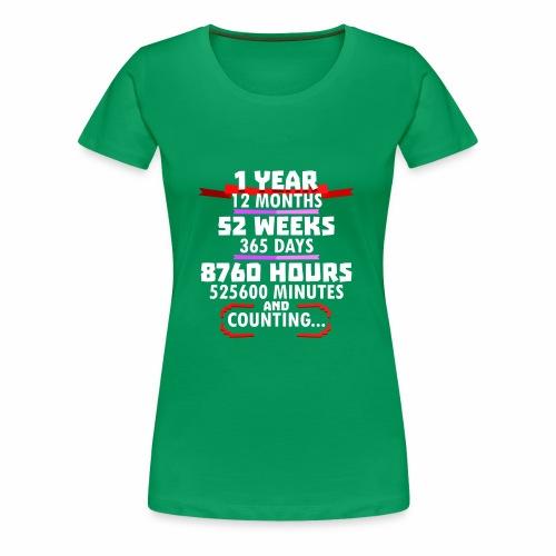 1st Wedding Anniversary a Year Vintage G Design - Women's Premium T-Shirt