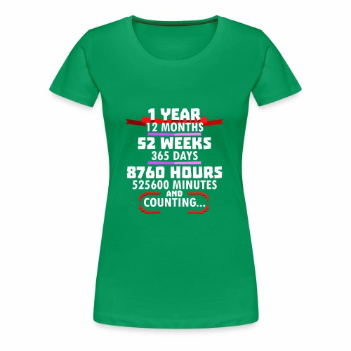 1st Wedding Anniversary a Year Vintage G Design - Women's Premium T-Shirt