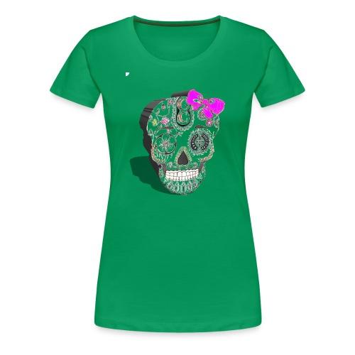 Tête de mort mexicaine 3D - T-shirt Premium Femme
