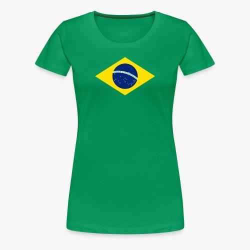 Brasilien Flagge - Frauen Premium T-Shirt
