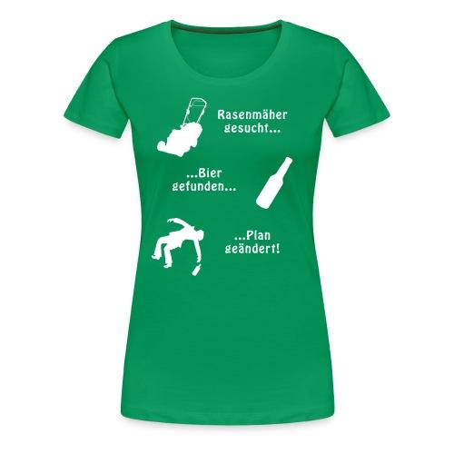 Rasenmäher gesucht... - Frauen Premium T-Shirt