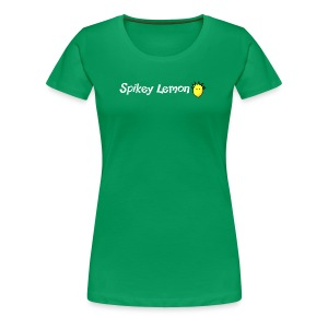 Spikey Lemon Clear White - Women's Premium T-Shirt