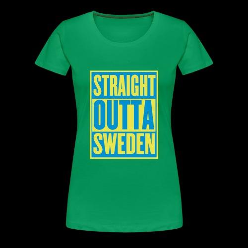 Straight Outta Sweden - Premium-T-shirt dam