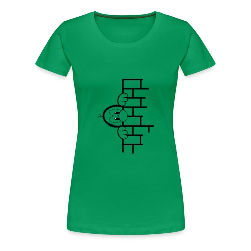 Gouckie behind a Wall - Frauen Premium T-Shirt