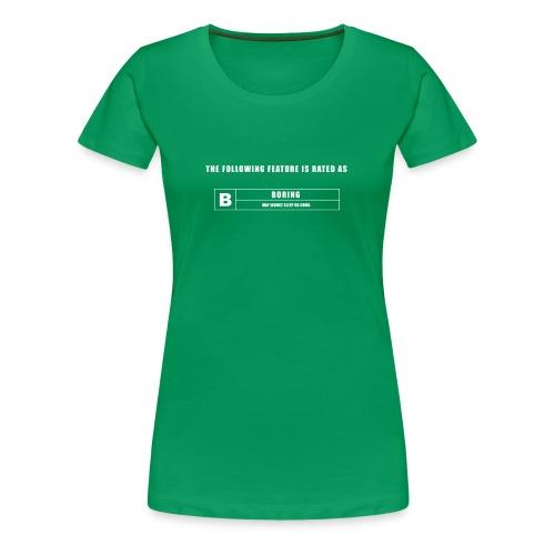 BORING GREEN SCREEN - Women's Premium T-Shirt