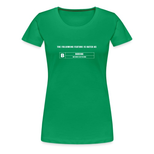 BORING GREEN SCREEN - Women's Premium T-Shirt