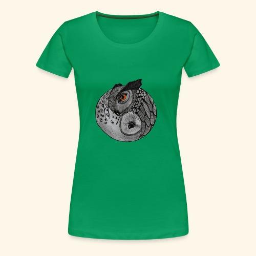 Chouette ying-yang - T-shirt Premium Femme