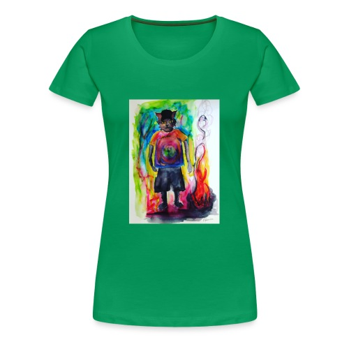 Fire Cat - Women's Premium T-Shirt