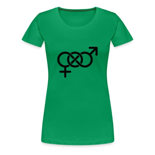 intersex Symbol Gender fluid - Frauen Premium T-Shirt