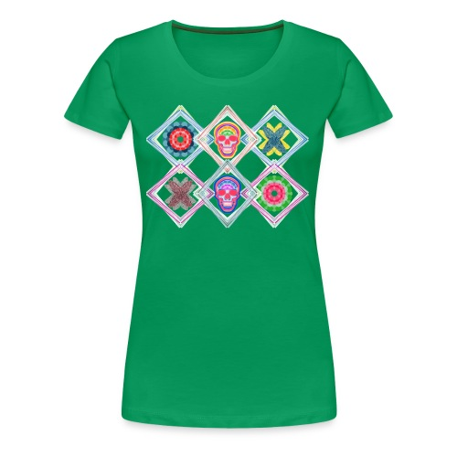 Rombos skulls - Camiseta premium mujer