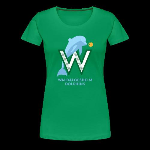 Dolphins Logo - Frauen Premium T-Shirt