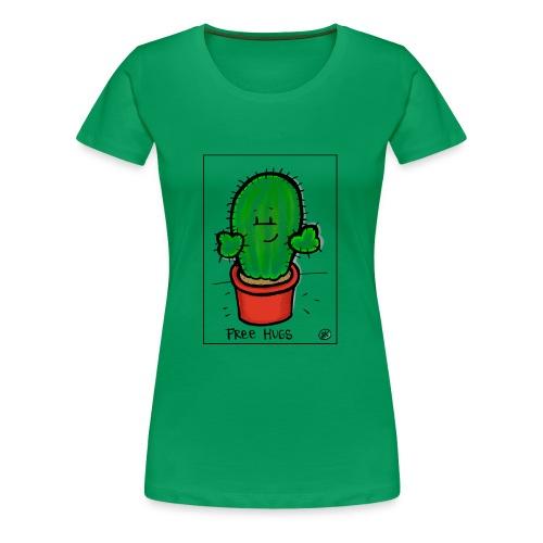 Mit freundlichem Gruß vom Kaktus - Frauen Premium T-Shirt