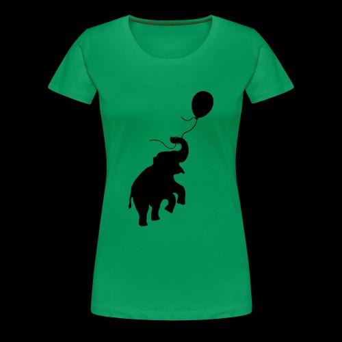 Elefant mit Ballon - Frauen Premium T-Shirt