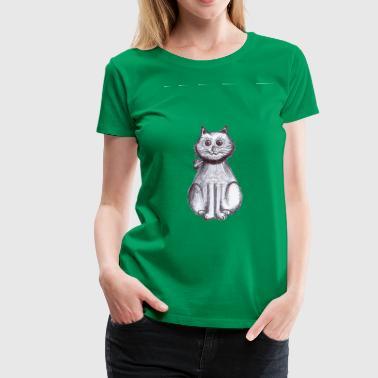 kattunge sitter - Premium T-skjorte for kvinner