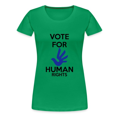 Vote for Human Rights - Vrouwen Premium T-shirt