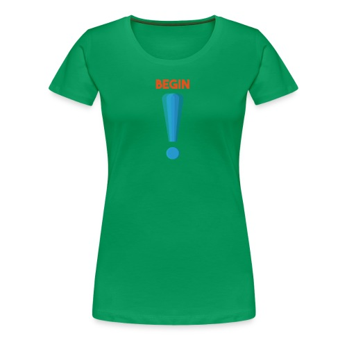 logo point exclamation - T-shirt Premium Femme