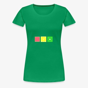 DIGITAL FRUITS - Pixel Melone - Zitrone - Kiwi - Frauen Premium T-Shirt