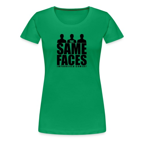 Same Faces Logo - Black - Women's Premium T-Shirt