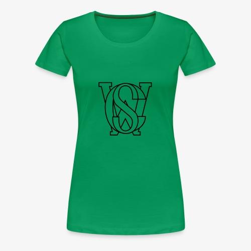 SCW Logo schwarzer rand only schwarzer Rand only - Frauen Premium T-Shirt