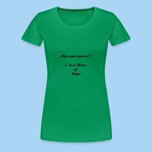 superpower mom - zwart - Vrouwen Premium T-shirt