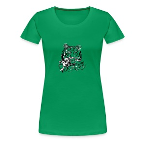 David Pucher Art Tiger - Frauen Premium T-Shirt