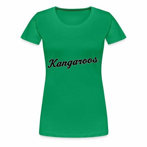 kangaroos font schwarz - Frauen Premium T-Shirt