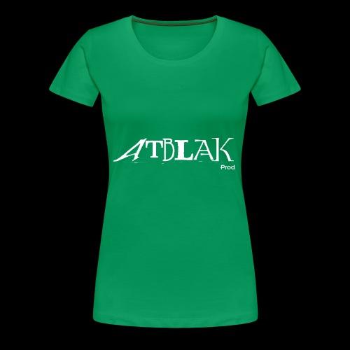 ATBLAK blanc grand - T-shirt Premium Femme