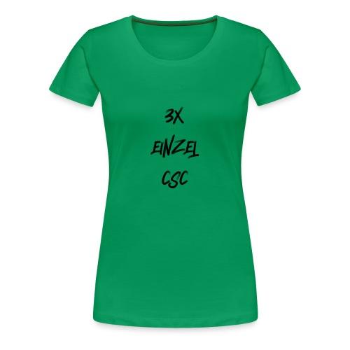 3 mal einzel CSC - Frauen Premium T-Shirt