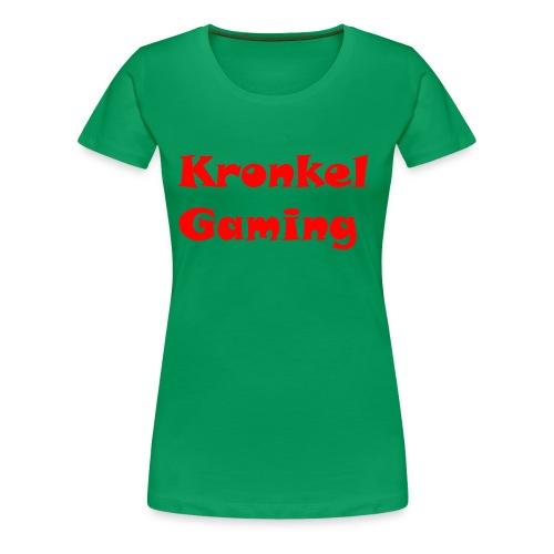 Mok Kronkelgaming - Vrouwen Premium T-shirt