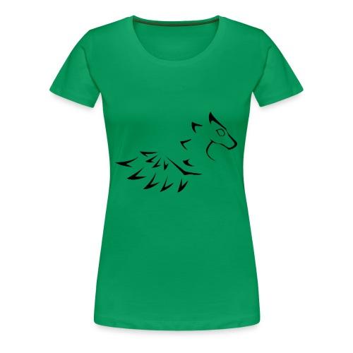 Black yin dragon - Premium-T-shirt dam