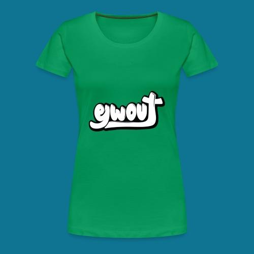 Premium T-shirt vrouw (zwart wit) - Vrouwen Premium T-shirt