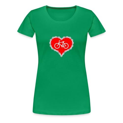 Miłość Biking - Koszulka damska Premium
