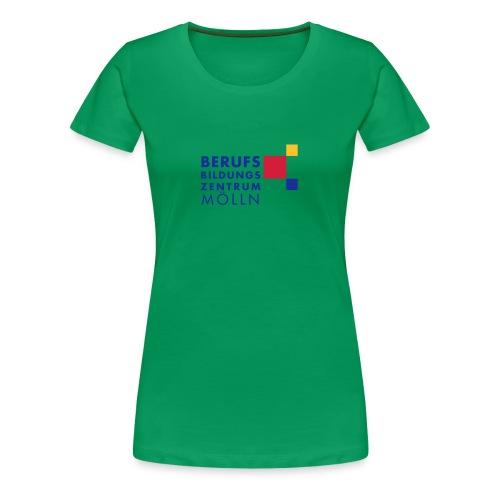 BBZ Logo weisse Schrift Schulkleidung.eps - Frauen Premium T-Shirt