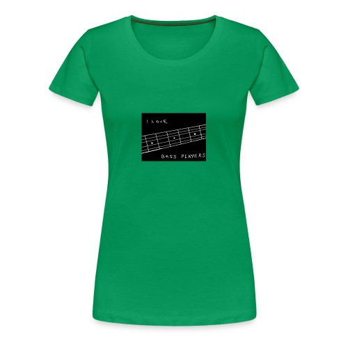 I Love Bass Players - Women's Premium T-Shirt