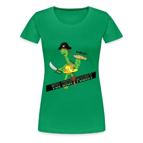 The kiwi family logo - Premium T-skjorte for kvinner