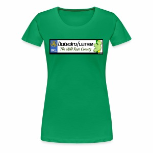 LEITRIM, IRELAND: licence plate tag style decal eu - Women's Premium T-Shirt